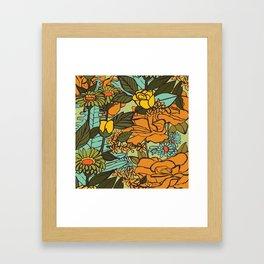 retro garden Framed Art Print
