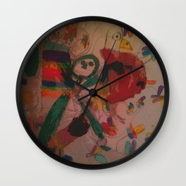 Cabsink16DesignerPatternSFA Wall Clock