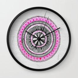 Mandala Creation #5 Wall Clock