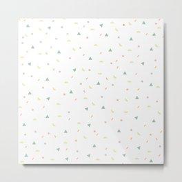 glaze and mixed decorative sprinkles Metal Print