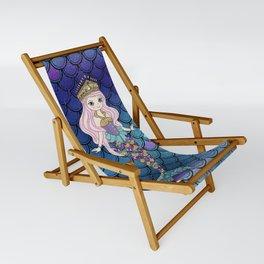 Princess of Sea   Glitter Mermaid Sling Chair