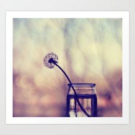 dandelion morning Art Print