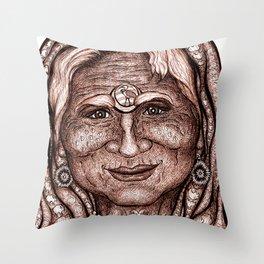 Wisdom Keeper Brown #45 (Communion) Throw Pillow
