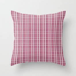 Burgundy Red Background of White Lines Throw Pillow