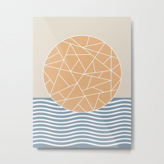 MAYBE THE SEA (abstract geometric) Metal Print