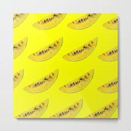 yellow watermelon slices Metal Print