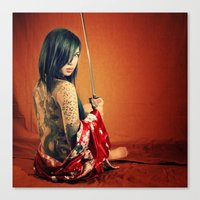 tatoo Canvas Prints featuring Tatoo by n23art