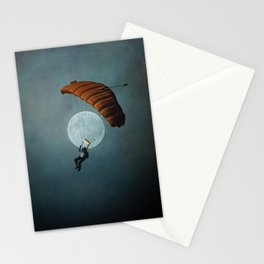 Skydiver's Moon Stationery Cards