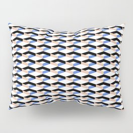 Retro Geometric Abstract Repeat Pattern Pillow Sham