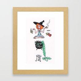 Witchy Multitasking Framed Art Print