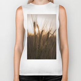 Wheat Holding the Sunset Biker Tank