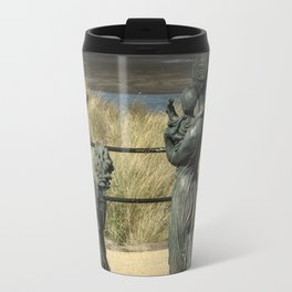 Welcome Home Statue by Anita Lafford on the promenade at Fleetwood - England Travel Mug