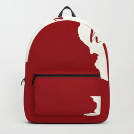 Illinois is Home - Red on White Backpack