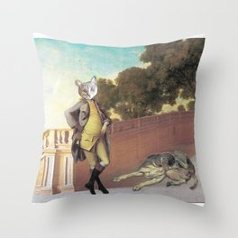 The Difference Between Cats and Dogs Throw Pillow