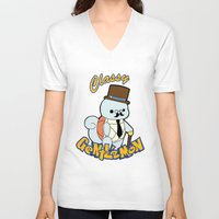 squirtle V-neck T-shirts featuring Classy Squirtle by tshirtsz
