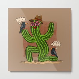Cactus Lady and Friends Metal Print