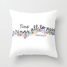 All things pass Throw Pillow