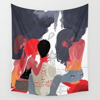 death Wall Tapestries featuring Death by Ifauxpas