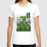 slytherin T-shirts featuring Slytherin Snake by makoshark