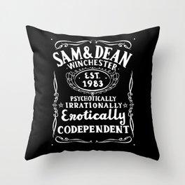 Erotically Codependent - Black Background Throw Pillow