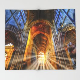 Bath Abbey Sun Rays Throw Blanket