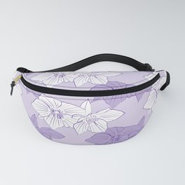 Purple Hellebores Fanny Pack