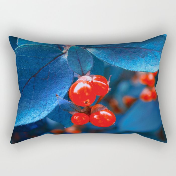 Garden Red Lamps Rectangular Pillow