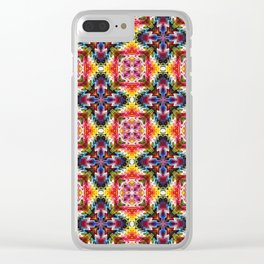 Native American Fashion Pattern Two Clear iPhone Case
