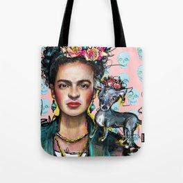 Frida + Perrito Tote Bag
