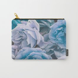 Great Garden Roses blue Carry-All Pouch