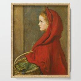 """John Everett Millais """"Red Riding Hood (A Portrait of Effie Millais, the artist's daughter)"""" Serving Tray"""