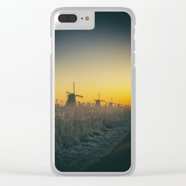 Sunrise at Kinderdijk III Clear iPhone Case
