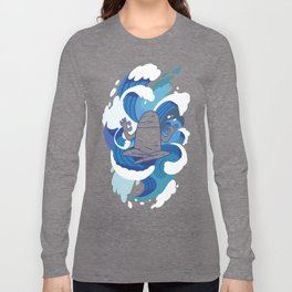 One With The Waves - Ocean, surfing, mindfulness Long Sleeve T-shirt