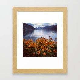 Lake Geneva and Alps, Montreux, Switzerland Framed Art Print
