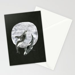 orcas' moon dance Stationery Cards