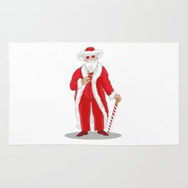 Big Pimpin' Santa Rug