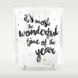 Christmas Happy Quote Shower Curtain