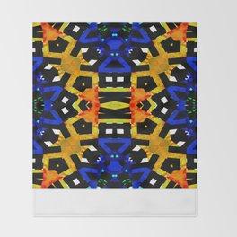 Abstract Piano Mash Throw Blanket