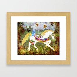 Irish Garden Pony Framed Art Print
