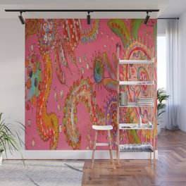 Pretty In Pink Paisley Wall Mural