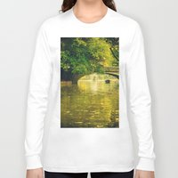 rowing Long Sleeve T-shirts featuring Rowing by nature by Eduard Leasa Photography