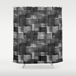 Squares Interrupted Shower Curtain
