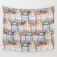 amsterdam Wall Tapestries featuring  Amsterdam by Julia Badeeva
