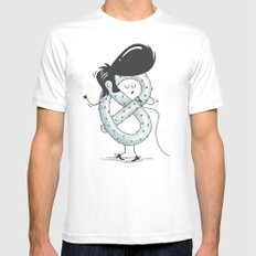 Elvis Pretzel White MEDIUM Mens Fitted Tee