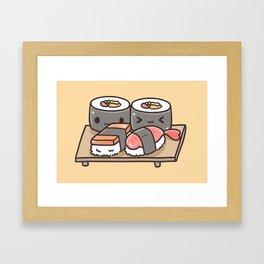 Sushi Kawaii Framed Art Print