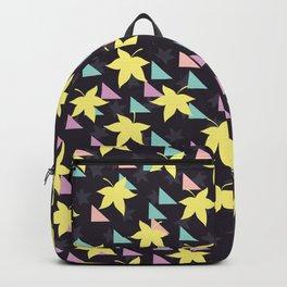 Black leave design Backpack