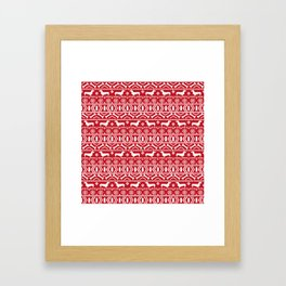 Dachshund doxie fair isle christmas sweater festive red and white holiday dog lover gifts Framed Art Print