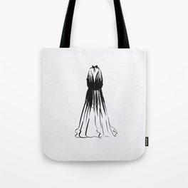 Little Black Halter Dress Tote Bag