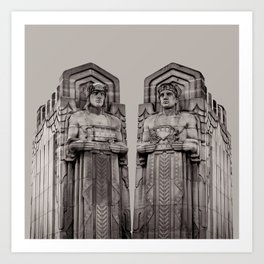 The Guardians in Grey Art Print