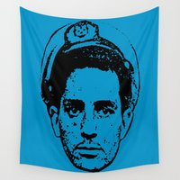 literature Wall Tapestries featuring Outlaws of Literature (Jack Kerouac) by Silvio Ledbetter